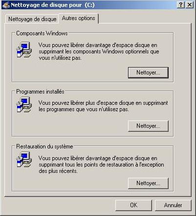 Entretien du disque dur for Fenetre windows outils